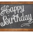 Happy Birthday on blackboard — Stock Photo