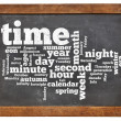Time and calendar word cloud — Foto Stock