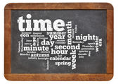 Time and calendar word cloud — Stock Photo