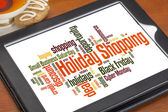 Holiday shopping word cloud — Stok fotoğraf