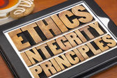 Ethics, integrity and principles — Stock Photo