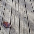 Old weathered wood deck — Stock Photo