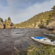 Stock Photo: Canoes on North Platte River