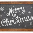 Merry Christmas on blackboard — Foto Stock