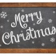 Merry Christmas on blackboard — Foto de Stock
