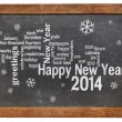 Happy New Year 2014 on blackboard — Stock Photo #35625103