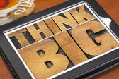 Think big on digital tablet — Stock Photo