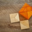 Pythagoretheorem in tangram puzzle — Stock Photo #35705141