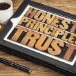 Honesty, principles and trust — Stock Photo #35948613
