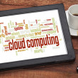 Cloud computing word cloud — Stock Photo