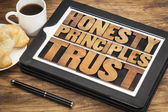 Honesty, principles and trust — Stock Photo