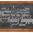Holiday shopping word cloud — Stock Photo #35982825