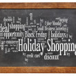 Stock Photo: Holiday shopping word cloud