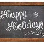 Happy Holidays on blackboard — Stock Photo #36112419