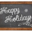 Happy Holidays on blackboard — Stock Photo #36112419