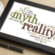 Myth and reality word cloud — Stock Photo