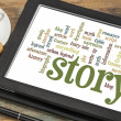 Stock Photo: Story and storytelling word clouds