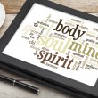Stock Photo: Mind, body, spirit and soul
