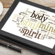 Mind, body, spirit and soul — Stock Photo