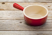 Stoneware soup cup — Stock Photo