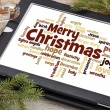 Merry Christmas word cloud — Stock Photo