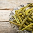 Green (French) beans steamed — Stock Photo