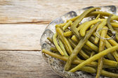 Green (French) beans steamed — 图库照片