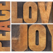 Love, joy and peace — Stock Photo