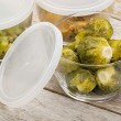 Dinner meal in glass containers — Stock Photo #36430471