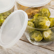 Stock Photo: Dinner meal in glass containers