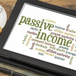 Stock Photo: Passive income word cloud