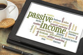 Passive income word cloud — Stock Photo