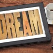 Stock Photo: Dream word in wood type
