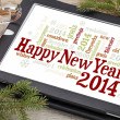 Happy New Year 2014 — Stock Photo #36609393
