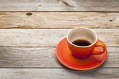 Stoneware coffee cup — Stock Photo