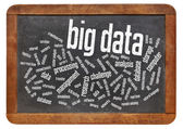 Big data word cloud — Foto Stock