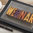 Webinar word on digital tablet — Foto de Stock