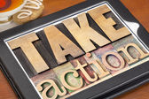 Take action motivation — Stock Photo