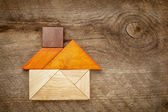Abstract tangram house — Stock Photo