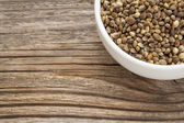 Whole hemp seeds — Stock Photo
