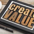 Create value on digital tablet — Stock Photo #37125659