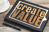 Create value on digital tablet — Stock Photo