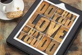 Fazer o que você ama — Fotografia Stock