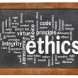 Ethics word cloud — Stock Photo
