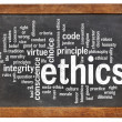 Stock Photo: Ethics word cloud