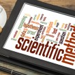Stock Photo: Scientific method word cloud