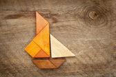 Sailing yacht abstract — Stock Photo