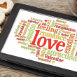 Stock Photo: Love and romance word cloud