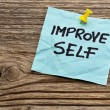 Improve self motivational reminder — Stok Fotoğraf #37701183