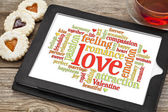 Love and romance word cloud — Stock Photo
